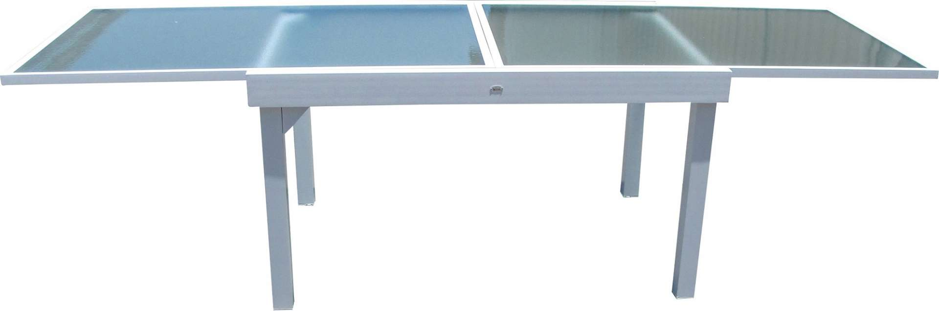 שולחן אוכל איכותי נפתח אלומיניום לבן בגדלים שונים