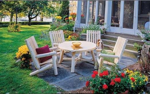 שולחן גן עגול