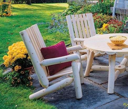 זוג כיסאות גן משענת גבוהה