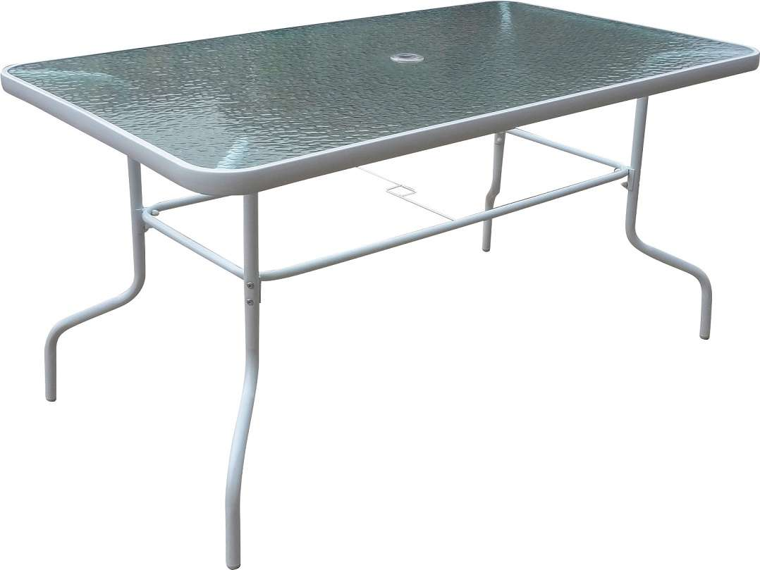 פינת אוכל קלילה לגינה שולחן ושישה כסאות בהיר