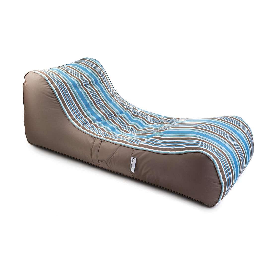 פוף מיטה RELAX חום-תכלת