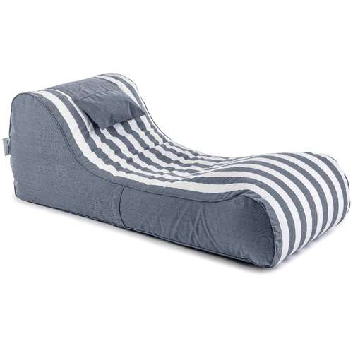 פוף מיטה RELAX כחול נייבי-לבן