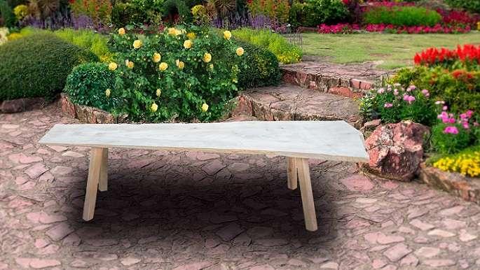 ספסל גינה ייחודי בסטייל אותנטי