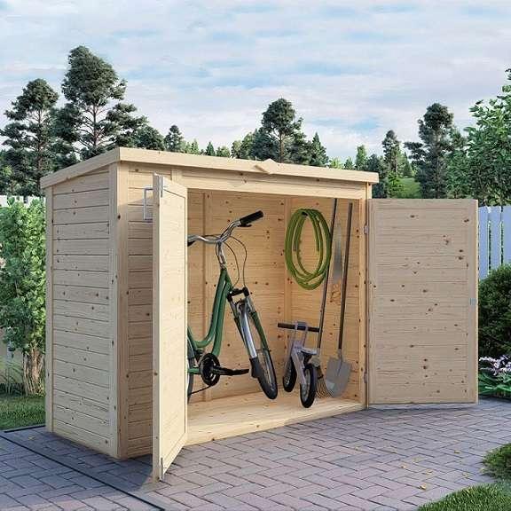 מחסן עץ לגינה 0.90*2.00GX74HB