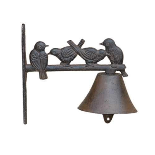 פעמון ברזל דקורטיבי ציפורים